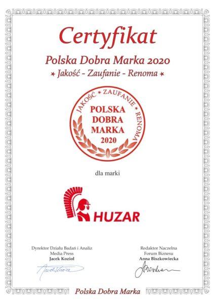 Wyróżnienia dla sieci HUZAR, Wyróżnienia dla sieci HUZAR